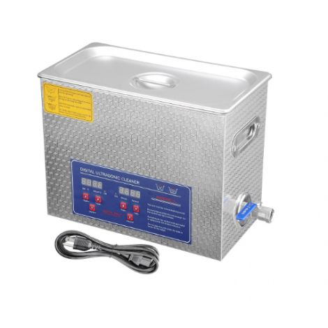 Stainless Steel Commercial Ultrasonic Cleaner 6L w/ Digital Timer Heater