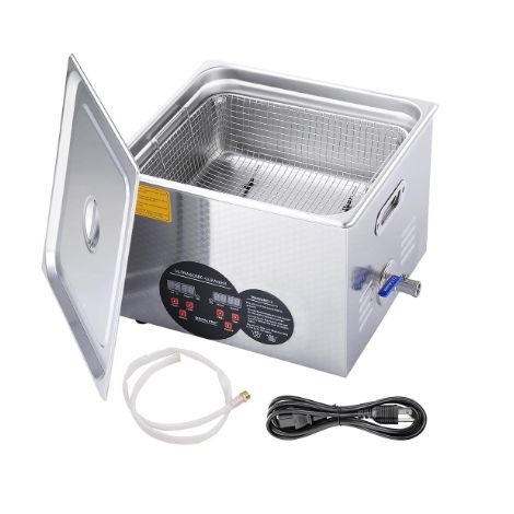 Stainless Steel Commercial Ultrasonic Cleaner 15L w/ Digital Timer Heater
