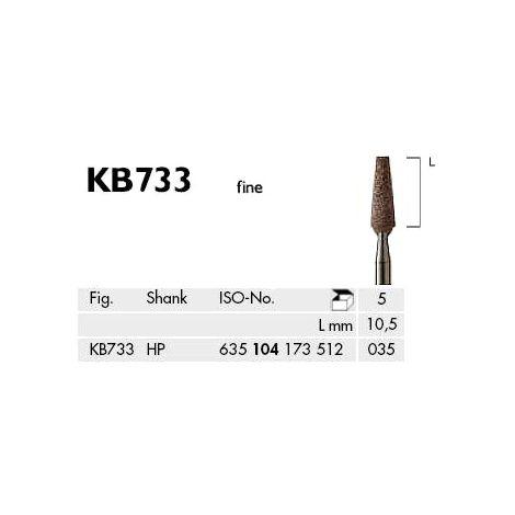 Flat End Taper Abrasives C + B Brown Fine (Meisinger)