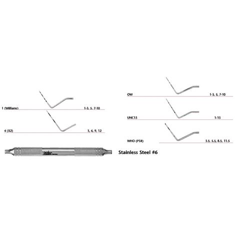 Single-Ended Probes Stainless Steel (Miltex)