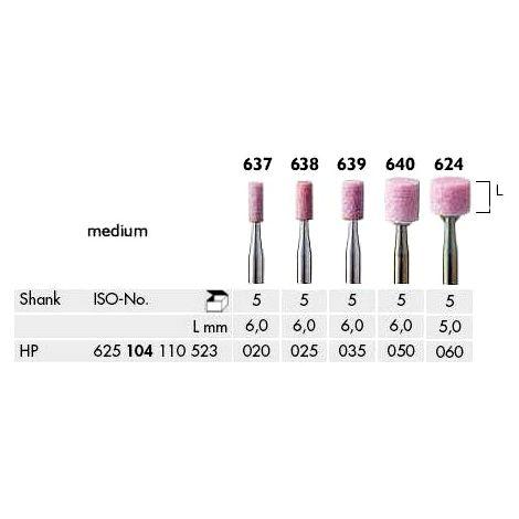 Cylinder Abrasives Corundum Pink Medium (Meisinger)