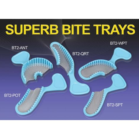 Disposable Superb Bite Trays Wide Posterior, Box/40