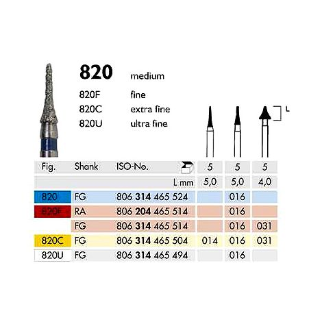 Diamond Burs Inteproximal 820 (Meisinger)