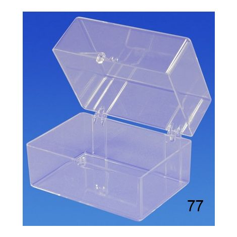 "Clear Hinged Box (2 7/8"" x 2"" x 2"")"