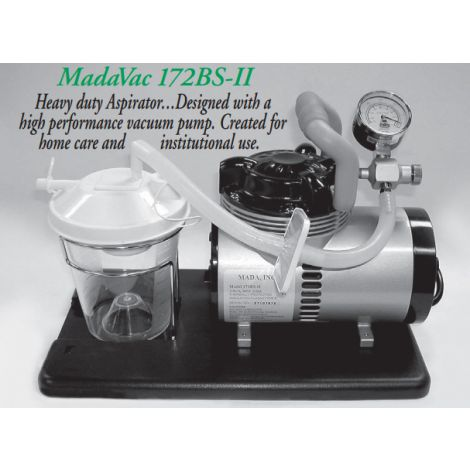 "MadaVac Aspirator (Aspirator Pump on blue base stand with carry handle, 0-22"" Hg. 220 volts"
