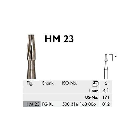 SU171 Plain Tapered Fissure Carbide Burs Pk/5