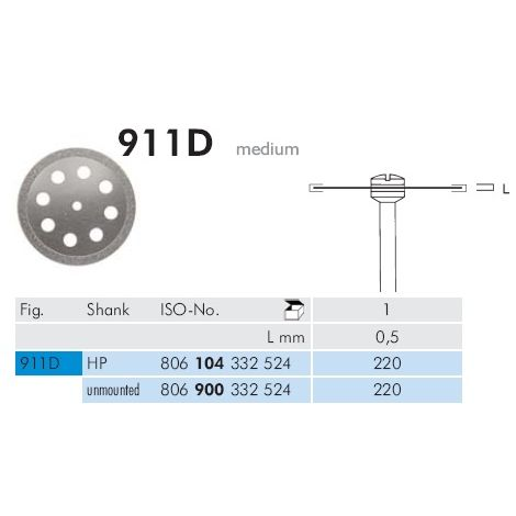 Diamond Discs Medium 911D (Meisinger)