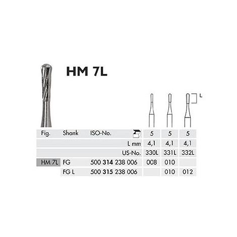Long Pear Carbide Burs FG (Meisinger)