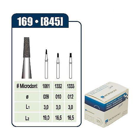 MICRODONT Cone Flat End Disposable Diamond Burs