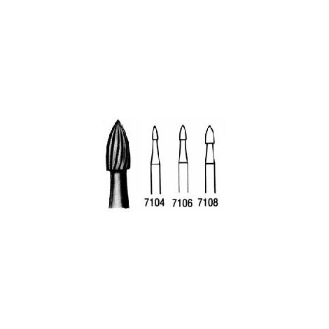 T & F Flame 12 Bladed Carbide Burs - FG (Miltex)
