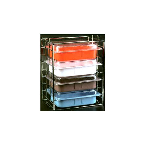 Tub & Lid Rack Chrome (Plasdent)