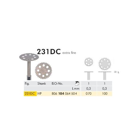 Diamond Discs 231DC HP Extra Fine (Meisinger)
