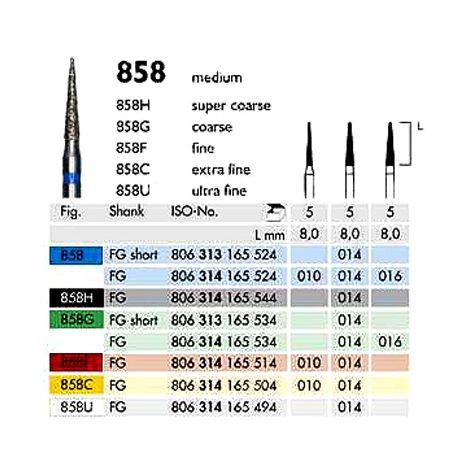 Diamond Burs Needle 858 FG (Meisinger)