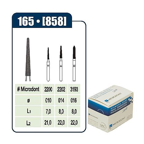MICRODONT Cone Flame End Disposable Diamond Burs