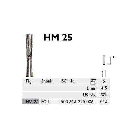 Long Inverted Cone Carbide Burs FG (Meisinger)
