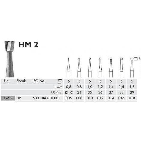 Inverted Cone Carbide Burs HP (Meisinger)