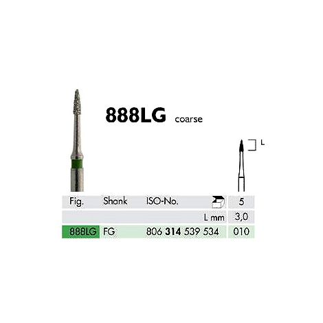 Diamond Burs Flame 888 L (Meisinger)