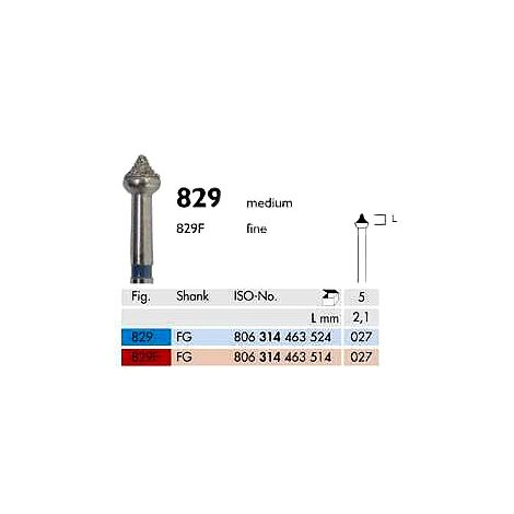 Diamond Burs FG 829-027 Medium Pk/5