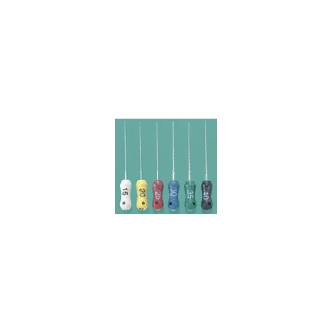 K-FILE #15-40 x 21mm, pk/6 (Assorted)