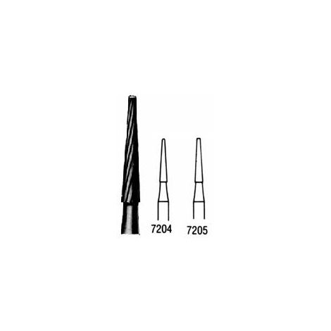 T & F Cone 12 Bladed Carbide Burs - FG (Miltex)