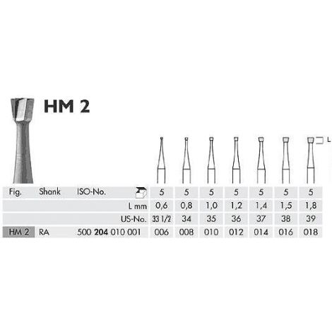 Inverted Cone Carbide Burs RA (Meisinger)