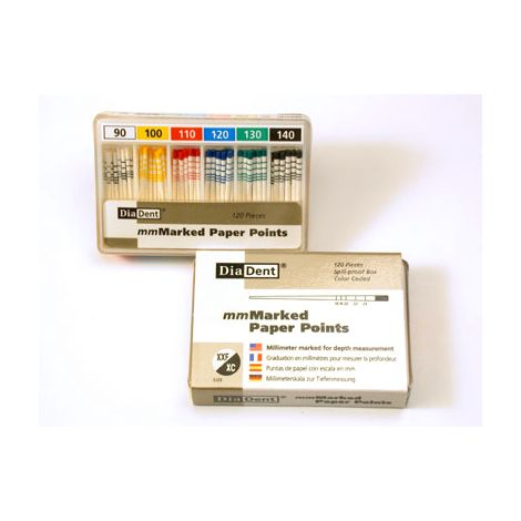 MM Marked Paper Points Accessories Vials (DiaDent)