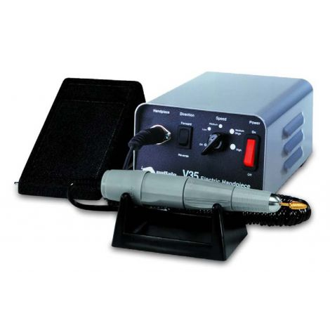 V35 Gray Electric Handpiece System Complete, 120V AC (Console + Gray HP + Foot Control)