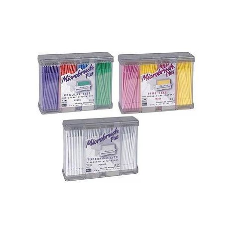 Microbrush Plus Regular Pk/400 Assorted (Purple/Peach/Blue/Green)