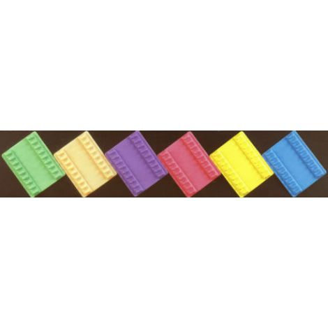 Small Instrument Mat Reversible Neon & Pastel Color (Plasdent)